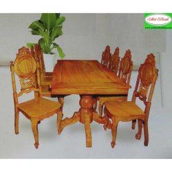 Bộ bàn ăn gỗ căm xe gỏ MS8339