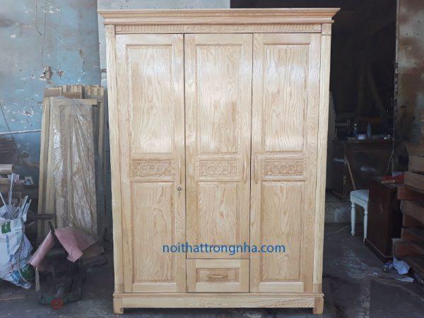 Tủ quần áo gỗ sồi giá rẻ