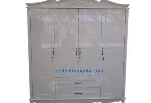 Tủ gỗ sơn men trắng sang trọng