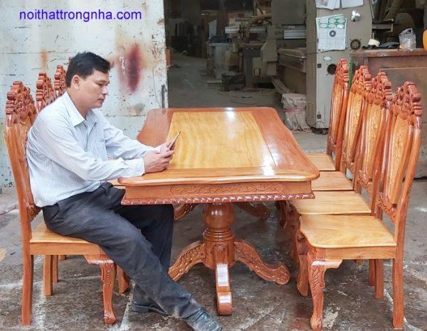 Trọn bộ bàn ghế ăn gỗ