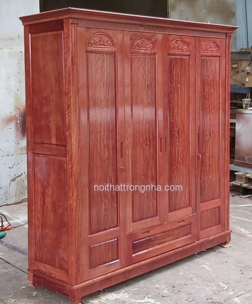 Tủ quần áo gỗ tự nhiên hiện đại