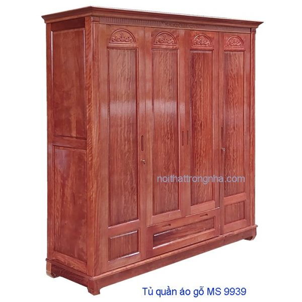 Tủ quần áo gỗ gội tự nhiên