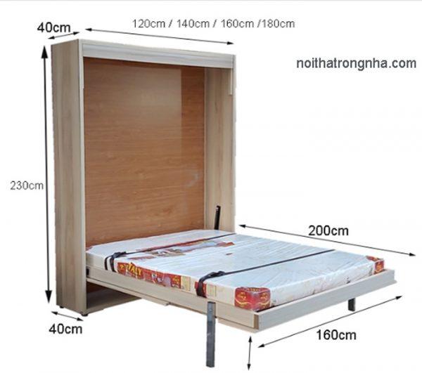 Kích thứớc giường thông minh