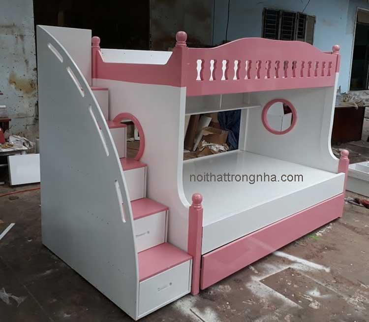 Giá giường tầng trẻ em gỗ thông chất lượng cao