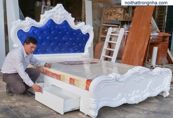Giường ngủ giá rẻ hiện đại