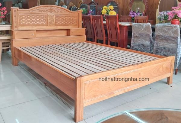 Giường gỗ gõ đỏ đẹp giá rẻ