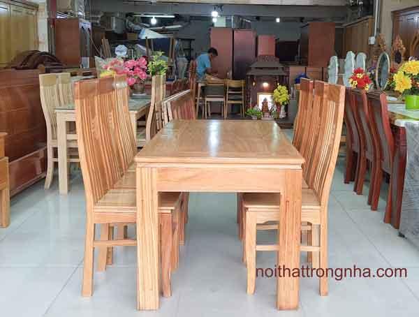 Bộ bàn ăn gỗ gõ 6 ghế