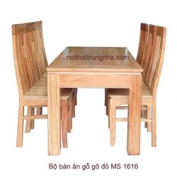 Bộ bàn ăn gỗ gõ đỏ